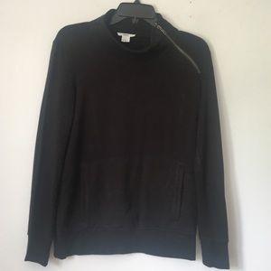 Helmut Lang Pullover side zip black sweatshirt